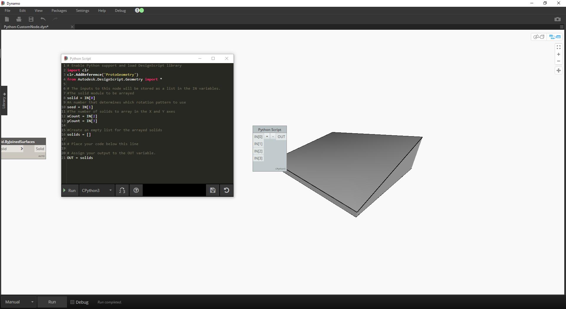 Rotate Coordinate System Python